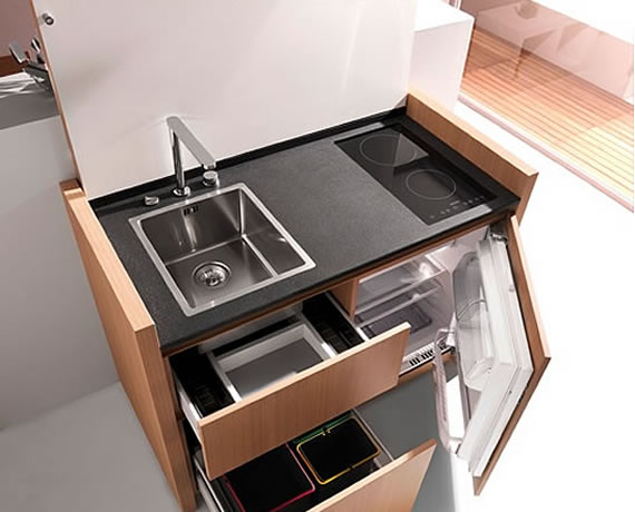 Space Saving Kitchen from Kitchoo