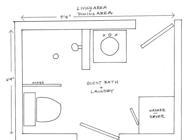 Two Bathroom Laundry Ideas Within The Footprint Of A Small Home
