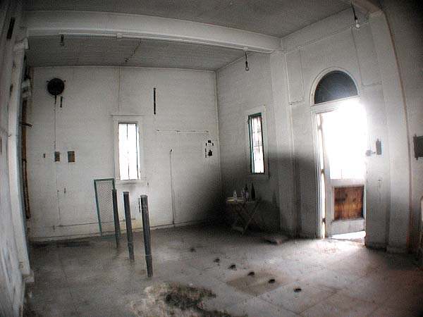 inside uncompleted building