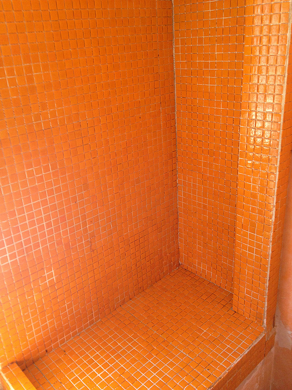 shower almost completed