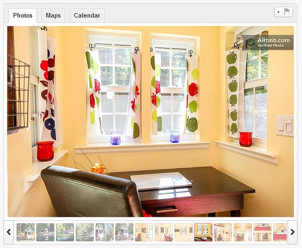 Goldfinch AirBnB Listing interior
