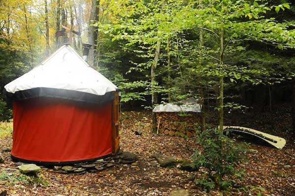 completed yurt