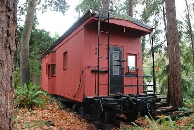 All Aboard: Tiny Houses Take to the Rails on railroad engine house plans, railroad shed plans, railroad depot plans,
