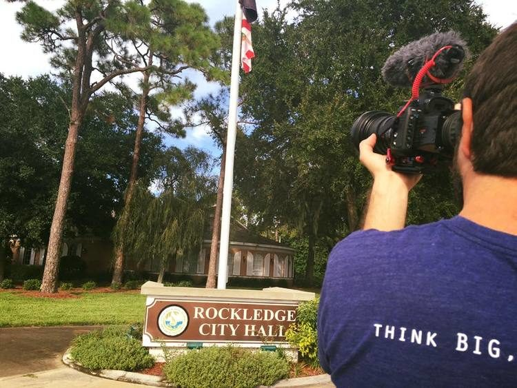 Documenting tiny house movemehistory in the making in Rockledge, Fl