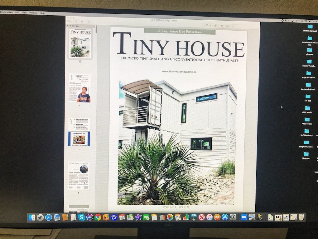 Tiny House Magazine Issue 77 cover