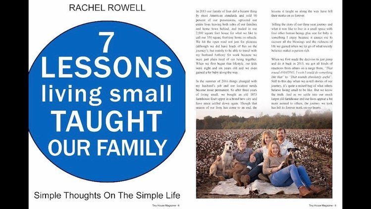 Living Small 7 Lessons