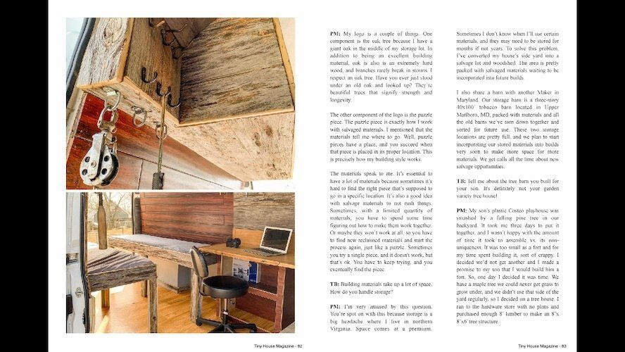 Repurposing materials for tiny houses