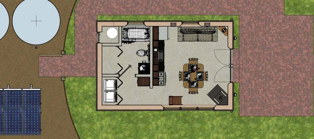 Floor Plan Adobe Micro Home 1000x444 Tiny House Blog