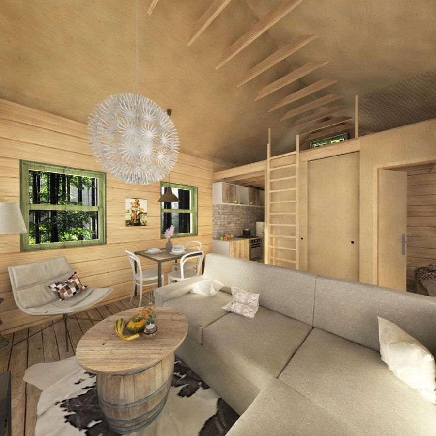 rustic-cabin-living-space-with-sofa-DIY-design-ideas - Tiny ...